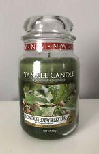 Yankee Candle Snow Dusted Bayberry Leaf Large Jar Festive USA Exclusive