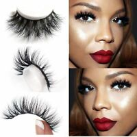 EG_ 3D Faux Mink Makeup Cross False Eyelashes Eye Lashes Extension Handmade Enga