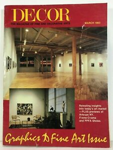 Decor March 1983 The Business Magazine of Fine Art & Picture Framing Frames Art