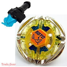 Flame SAGITTARIO BEYBLADE Masters Fusion Metal BB-35+GRIP+BLUE SPIN LAUNCHER