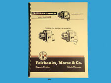 Fairbanks Morse Magneto Instruct & Parts Manual for  FM-X4A & FM-X4B Mags *404