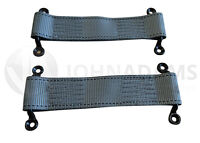 2 x Stitched Webbing Strap Grey Door Check Camper Horsebox Kit Car Hotrod Retain