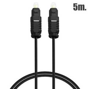 Cable Óptico Toslink 5m Fibra Óptica Digital Toslink de Audio Doble Macho Negr