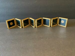 """Elias Fine Pewter 18KT Gold Electroplated Photo 8 Mini Picture Frames 19"""" x 2"""""""