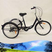 """Erwachsenendreirad Dreirad für erwachsene 3 Räder Fahrräder Fahrrad 24"""" 6 Gänge"""