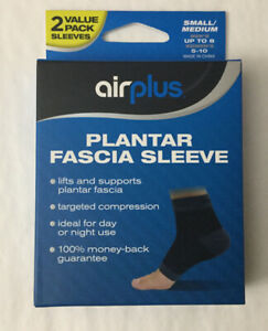 New Airplus Plantar Fascia Sleeve 2-pack Unisex Sz Small / Medium