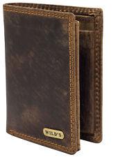 Herren Geldbörse Leder Braun Hochformat Geldbeutel Portemonnaie Lederbörse 1599