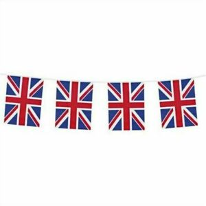 Union Jack Flag PVC Bunting - 20 Flags