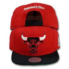 Original Mitchell & Ness Chicago Bulls Snapback Cap XL2TSNP NBA rot/schwarz
