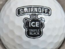 (1) SMIRNOFF ICE TRIPLE BLACK VODKA  ALCOHOL LOGO GOLF BALL