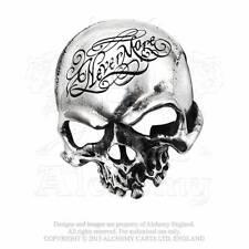 Alchemy Gothic The Nevermore Skull Belt Buckle Edgar Allan Poe Sign Del. B93