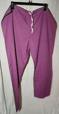 unisex X-Large purple scrub pants slight fading other than that Ok
