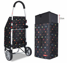 F22 Aluminium Shopping Market Trolley Foldable Luggage Cart Bag Basket Wheels