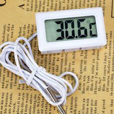 LCD Celsius Digital Thermometer Aquarium Refrigerator Temperature Detector White