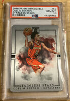 2018-19 Impeccable Metal Stainless Stars COLLIN SEXTON Rookie Cavs RC #14 PSA 10