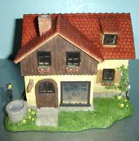 M.I. Hummel SUMMER BAKERY Miniature Village 827978 Light Up Building & Bird New