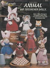 The Needlecraft Shop Animal Air Freshener Dolls plastic canvas book - 1996