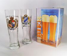 Weißbierglas Geschenkpackung mit 2 Gläsern a 0,5 liter