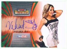 """VELVET SKY """"AUTOGRAPH CARD #07/25"""" TNA NEW ERA 2010"""