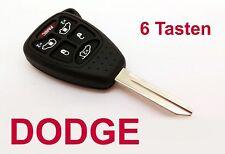 6T Schlüssel Fernbedienung DODGE Caliber Nitro 6 Tasten Transponder Gehäuse