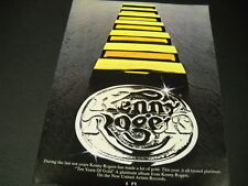 Kenny Rogers This Year It All Turns Platinum 1978 Promo Poster Ad mint cond