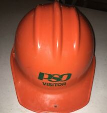 VINTAGE  ED BULLARD CO ORANGE HARD BOILED HAT- PSO Public Service Co Of Oklahoma