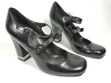 Nine West black leather high heel shoes uk 5w us 7w super condition
