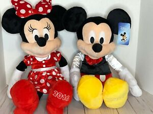 "Mickey & Minnie Mouse 20"" Plush -Just Play 2016 Disney EUC!"
