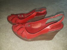 Next Womens Leather Red Heels