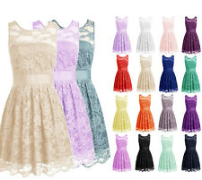 Plus Size Short Lace Prom Homecoming Bridesmaid Dresses Mini Wedding Party Gowns