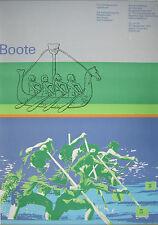 Poster Plakat - Boote - Olympische Spiele 1972 München Olympiade - Otl Aicher