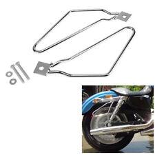 Saddle bag Support Bar Bracket  Guard Luggage Rack For Harley Davidson Dyna