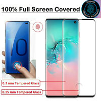 FOR Samsung Galaxy S10 S10e S10 Plus Tempered Glass Screen Protector  Full Curve