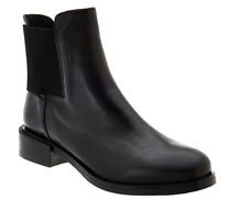 Clarks Narrative Leather Chelsea Boots - Marquette Wish Black Women's 8 New