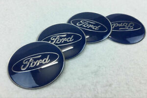 4Pcs 65mm Car Wheel Center Hub Caps Covers Emblems Stickers For Ford Logo