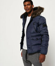 Superdry Mens Chinook Parka Jacket in Navy Blue XL