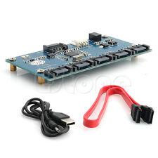 SATA 1 Adapter Card to 5 Port Converter (SATA Port Multiplier) Riser card Hub