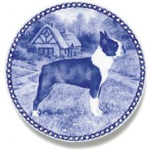 Boston Terrier - Dog Plate made in Denmark from the finest European Porcelain