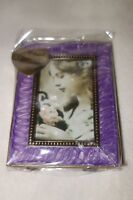 Taylor Avedon collectible Enamel Photo Picture Frame purple new + box