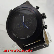 big sale 52mm parnis black dial big face PVD Full chronograph quartz mens watch