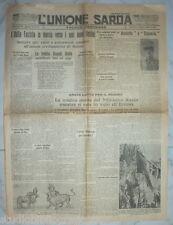 L'UNIONE SARDA - Politico quotidiano - Anno XLVII n.190 - 1935 Sardegna Fascismo