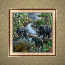 5D Diamond Embroidery Black Bear Painting Rhinestone Cross Stitch DIY Craft