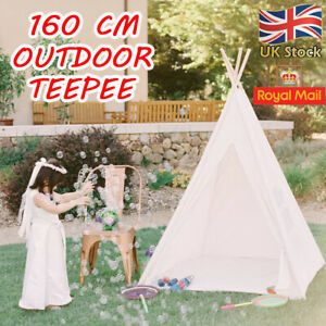 Extra Large Children Indian Tent Canvas Teepee Wigwam Boy & Girls  Play House UK