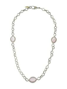 NEW LAGOS Venus Caviar Station White Mother of Pearl Chain Link Necklace $850