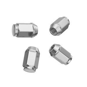 "(4) 12x1.25 Chrome Lug Nuts for Acorn Wheels | Closed End Bulge | 19mm 3/4"" Hex"