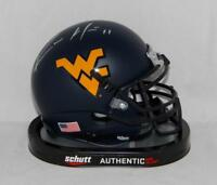 Kevin White Autographed West Virginia Mountaineers Blue Mini Helmet- JSA W *silv