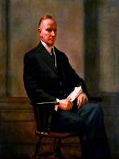 Retrato de pintura Hopkinson presidente Calvin Coolidge Poster Print BB12878B