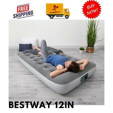 Bestway 12in. Air Mattress with Built in Ac Pump,Twin Size,Camping Gear, Airbeds