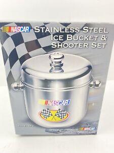 Godinger Nascar Stainless Steel Ice Bucket & Shooter Set Officially Licensed