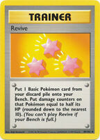 Revive Uncommon Trainer Pokemon Card Base Set Unlimited English 89/102